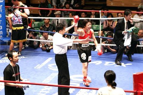 富樫直美 VS ジュジース・ナガワ