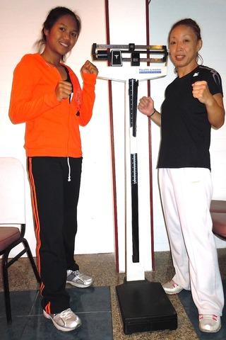 ピンチャノック選手と角田紀子選手
